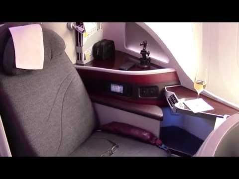 Qatar Airways Boeing 787 Dreamliner Business Class Brussels to Doha