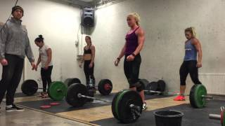 One CNJ every 30s for 50 rounds at 85 kilos by Ragnheidur Sara Sigmundsdóttir (last five rounds)