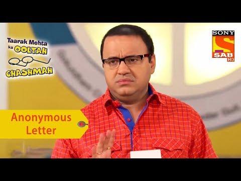 Your Favorite Character | Anonymous Letter For Gokuldham Residents | Taarak Mehta Ka Ooltah Chashmah