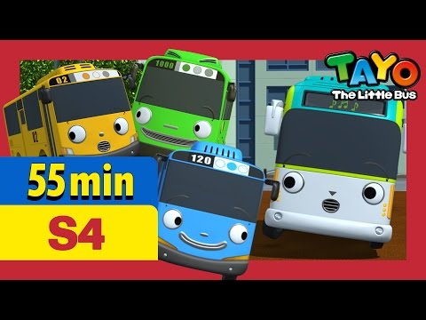 Tayo S4 EP1-5 l Nice to meet you, Peanut and more (55 mins) l Tayo Season 4 l Tayo the Little Bus