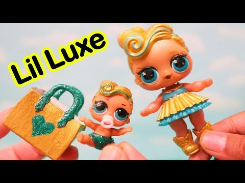LOL Surprise Dolls Ultra Rare LUXE Gets Lil Sister DIYCustom LIL LUXE - Family Fun Playtime w/ Toys