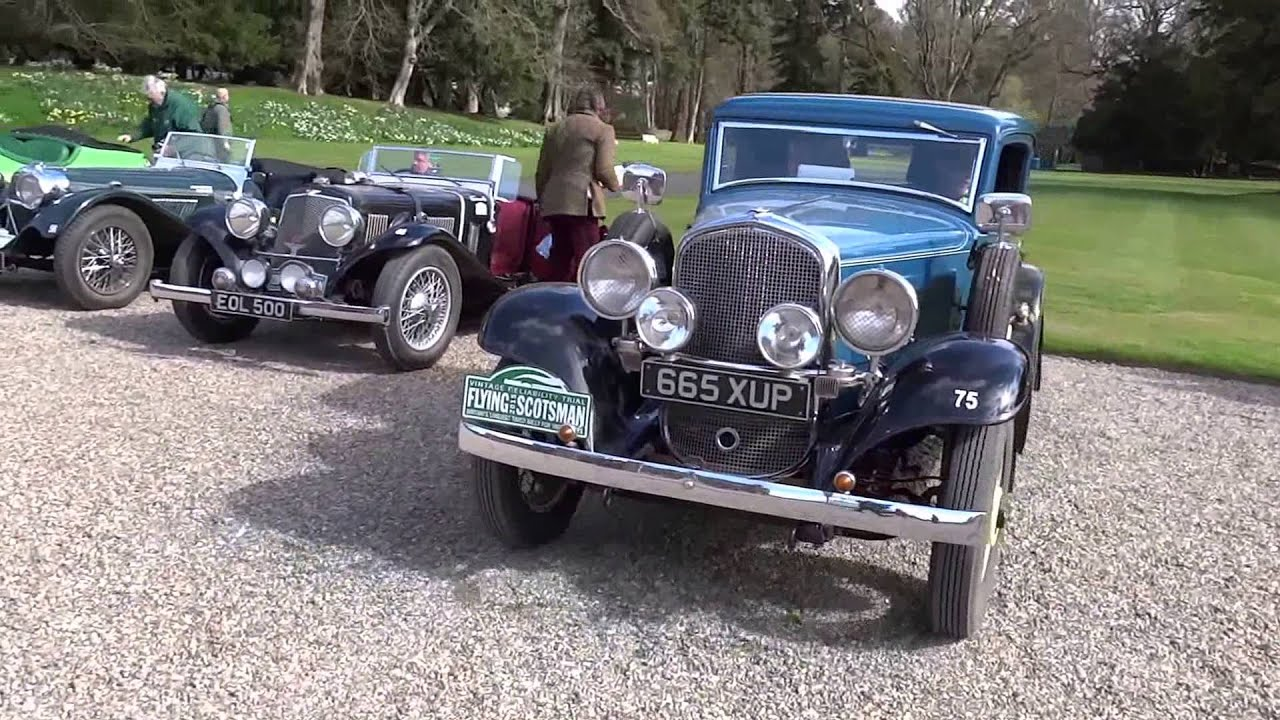 Flying Scotsman Classic Car Rally Arriving Scone Palace Perthshire ...