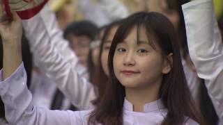 1000 Nữ sinh trong tà áo dài truyền thống | THPT Trưng Vương