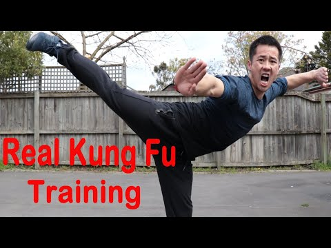Shaolin Kung Fu Wushu Butterfly Kick Training For Beginners