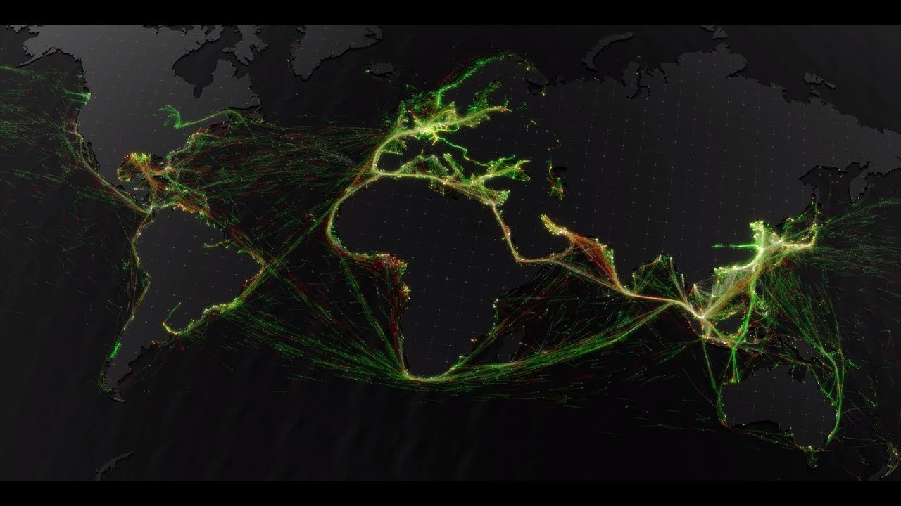 Marine Traffic – A visualisation of global shipping data