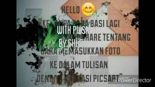 [Tutorial] Cara memasukkan foto ke dalam tulisan dengan aplikasi picsart ||By ghazyfa