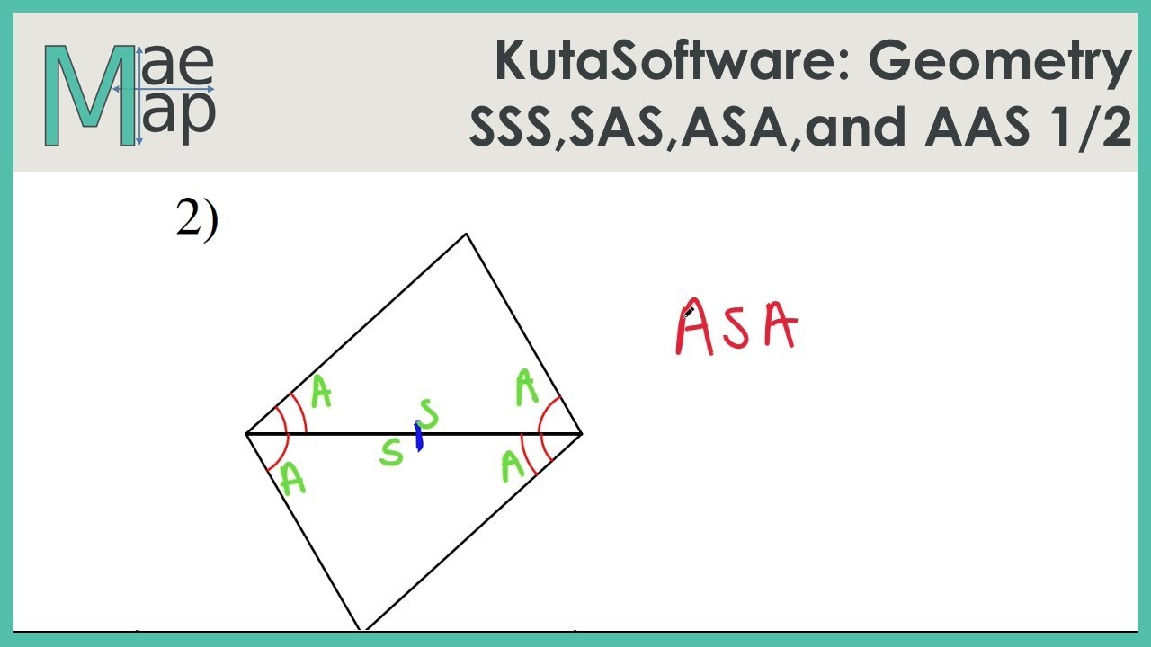 Kutasoftware Geometry Sss Sas Asa And Aas Congruence Part 1 Youtube
