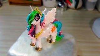 Mай литл пони принцесса Cелестия из мастики /Princess celestia in My Little Pony Toys -Я - ТОРТодел!