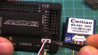 Настройка и подключение  APM 2.8 и GPS Beitian BN-880