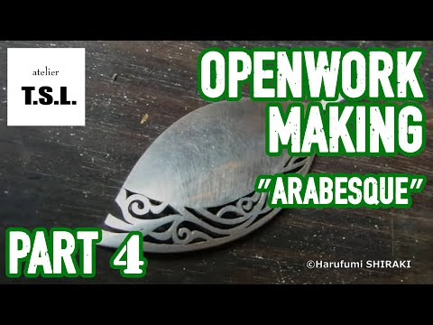 Silver jewelry making arabesque pendant Vol.4/4 and next is・・・ ペンダント仕上げ