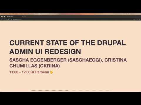 Keynote: Drupal Admin UI & JavaScript Modernisation - Matthew Grill
