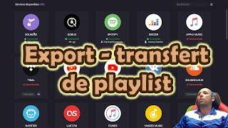 Transférer, exporter ses playlists entre spotify, deezer, qobuz,, apple music itunes, youtube lastfm screenshot 2
