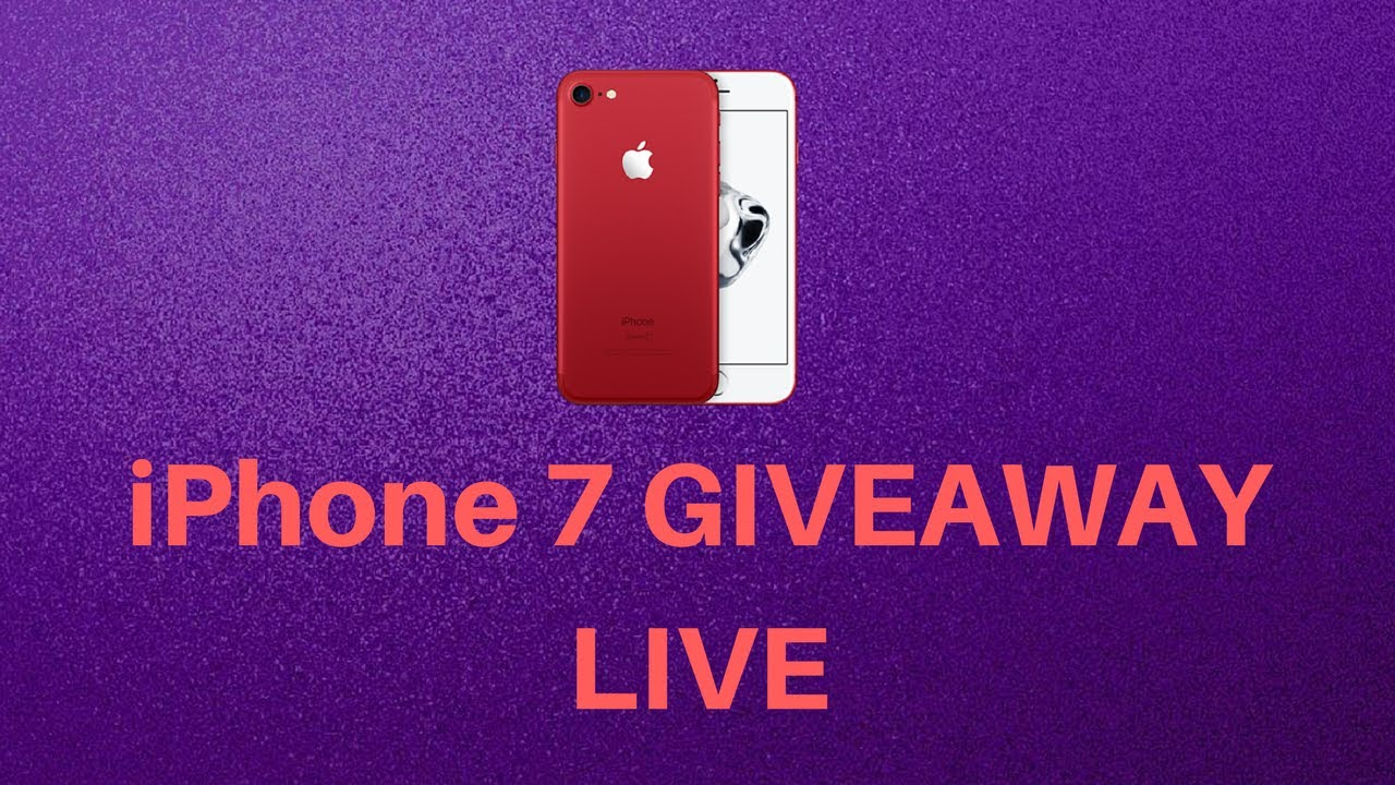 Give away live stream iphone
