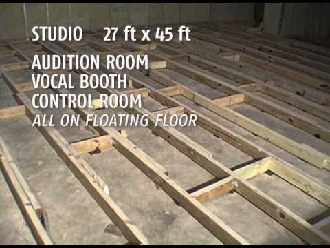 Gmmc digital studio in the making floating floor design for Recording studio flooring