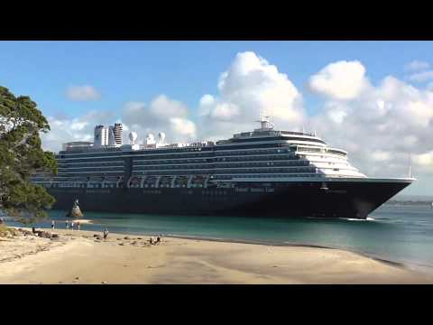 Cruise ships departing the Port of Tauranga. New Zealand.