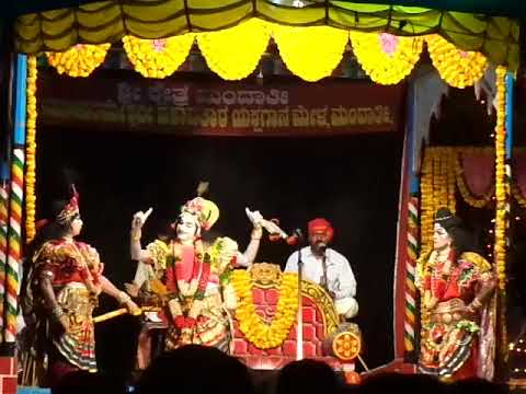 Yakshagana - Devi mahatme - Mandarthi mela - Chandra kulal as Vishnu -