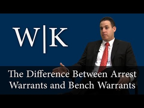 The Difference Between Bench Warrants and Arrest Warrants