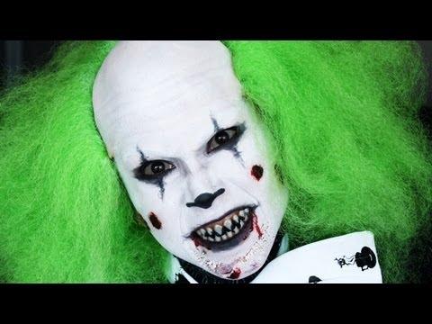 Evil Clown Halloween Tutorial - YouTube