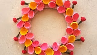How to Make a DIY Christmas Wreath Out of Paper Very Easily | Christmas Wreath Room Decor Tutorial