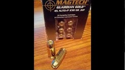 45ACP Ammo Test using Magtech Guardian Gold 230GN +P