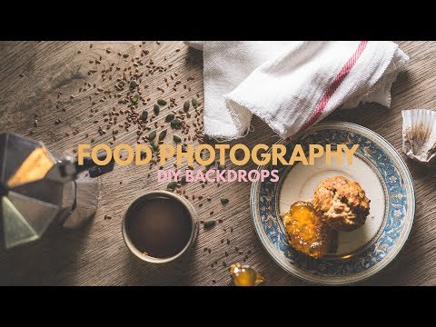 Free DIY Backdrops for Food Photography