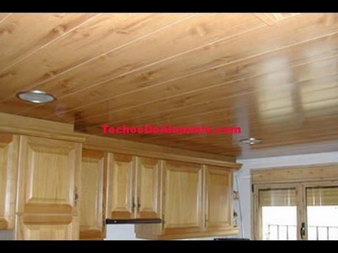 Cielorraso suspendido de fibra mineral techosdealuminio - Techos de madera rusticos ...