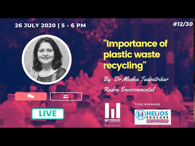 Importance of plastic waste recycling