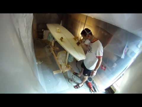 Hot Coating 8 Foot Surfboard Bottom