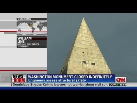 Washington Monument cracked after quake