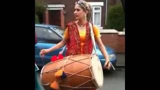 Punjabi Girl With Dhol on Rihana Rude boy YouTube