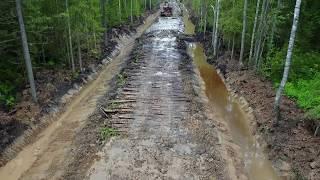Строительство лесной дороги