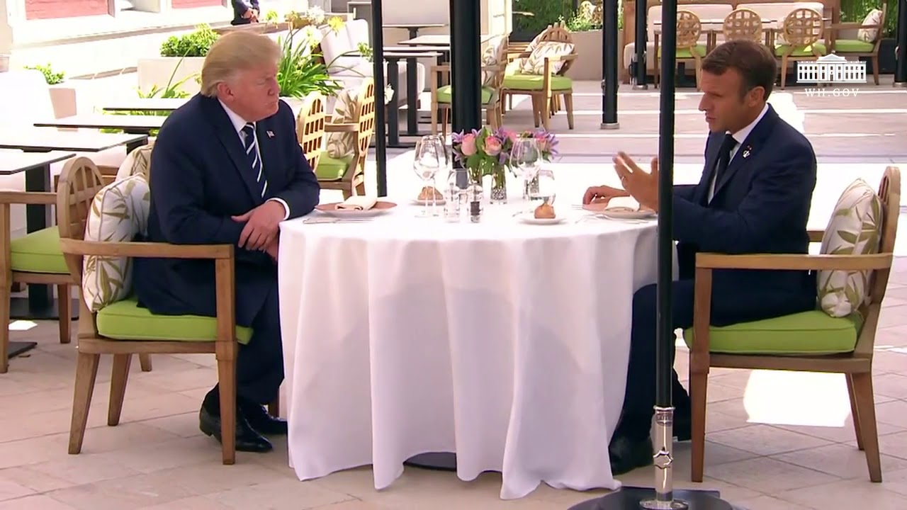 President Trump Participates in a Bilateral Meeting with the President of France