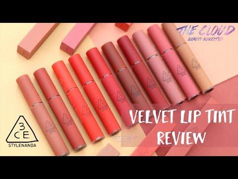 3ce-velvet-lip-tint-full-swatch-&-review-|-10-màu-son-kem-tint-lì-của-hãng-3ce