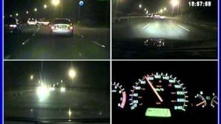 高畫質4路行車紀錄器120張4路夜間高速公路1