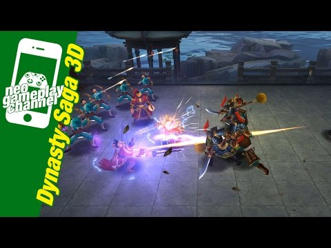 Dynasty Saga 3D (Three Kingdoms) - gameplay 13.43 minute, frist start