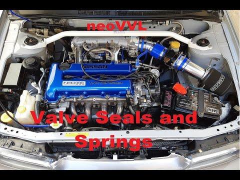 Changing Valve Seals And Springs On A NeoVVL Motor SR16VE SR20VE SR20 And Valve Clearance Adjustment