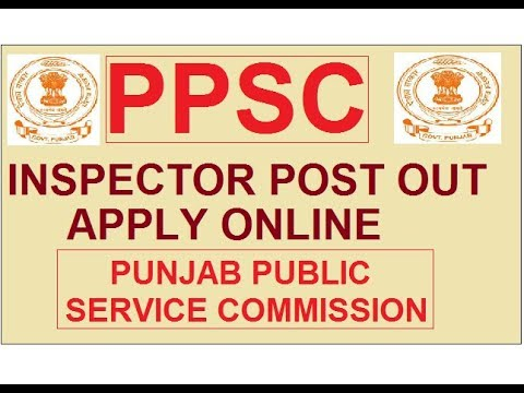 PPSC (PUNJAB PUBLIC SERVICE COMMISSION) INSPECTOR COOPERATIVE  SOCIETY RECRUITMENT || PPSC 2018 ||