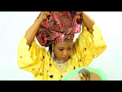 HOW TO TIE GELE (AFRICAN HEAD SCARF) WITH DAMASK