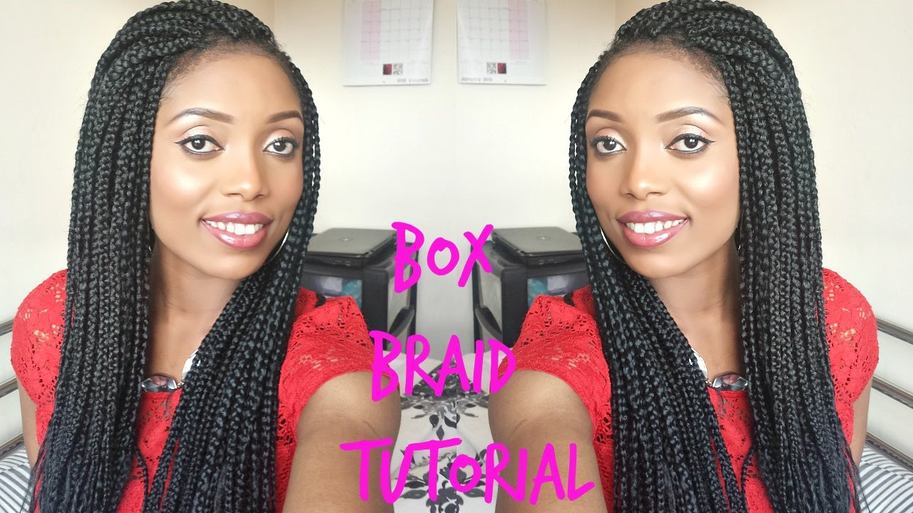 Diy Box Braids Tutorial How To Do Your Own Hair Natuarl
