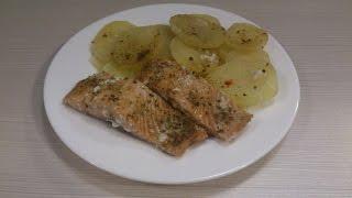 Любимые Рецепты. Рыба, запеченная с картофелем в фольге.