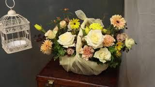 서초동꽃집 예비시댁인사 보자기 꽃바구니