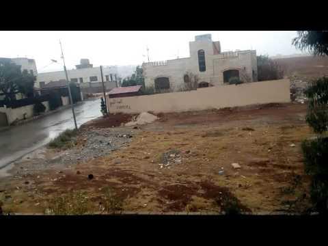Windy and rainy weather in Amman lطقس ممطر وعاصف في عمان