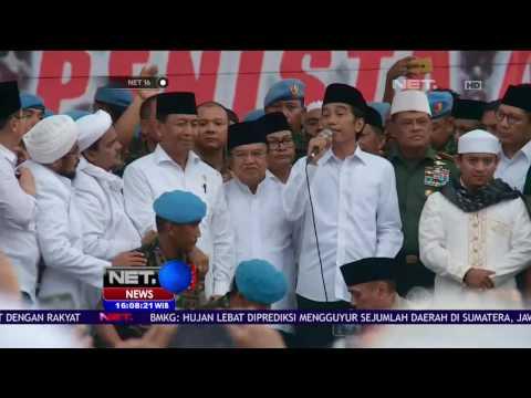 Jokowi - JK Sholat Jumat Bersama Di Monas - NET 16