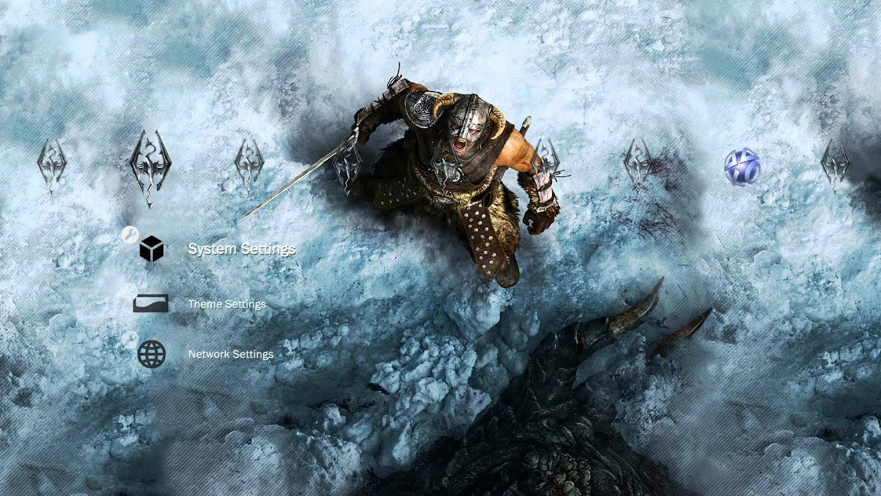 TES V Skyrim HD Wallpaper PS3 Theme Download Links Included