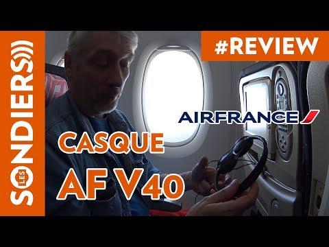 CASQUE AUDIO AIR FRANCE AF V40 : LA REVIEW TRES POUSSÉE