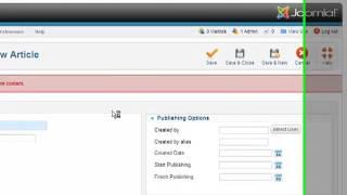 Generar Categorías y Elementos del Menú Mostrar Categorias) - Joomla 2.5