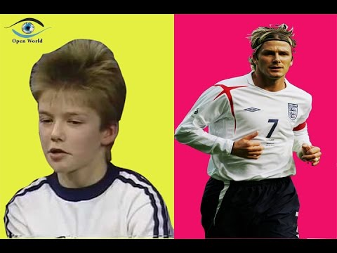 David Beckham - from 9 to 42 years old
