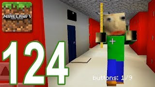 Minecraft: PE - Gameplay Walkthrough Part 124 - Baldi's Basics in Find The Button (iOS, Android)