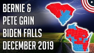 Bernie & Pete Gaining, Biden Falling - South Carolina, Wisconsin - December 2019 Follow me on Twitter: twitter.com/PoliticFor ecast  Bernie & Pete Gaining, Biden Falling - South Carolina, Wisconsin - December 2019 - Democratic ..., From YouTubeVideos