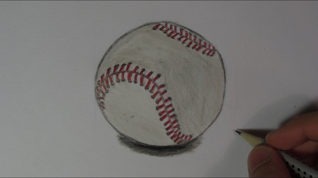 Realistic Baseball (Speed Drawing) - YouTube